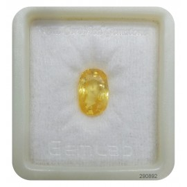 Yellow Sapphire Sup-Pre 7+ 4.2ct
