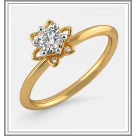 Diamond Pre Set Solitaire Ring In 18Kt